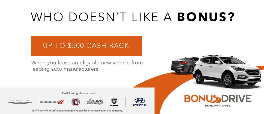 Bonus Drive Discounts